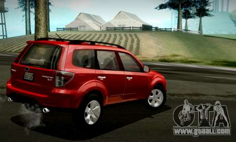 Subaru Forester XT 2008 v2.0 for GTA San Andreas upper view
