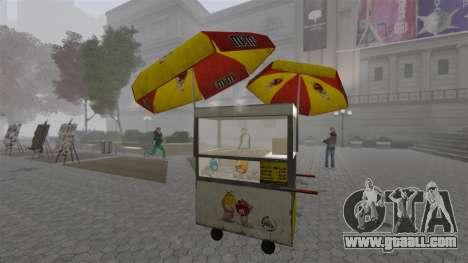 The upgraded kiosks and hot dogovye carts for GTA 4 eighth screenshot