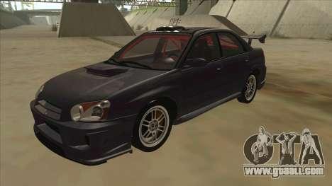 Subaru Impreza WRX STI Drift 2004 for GTA San Andreas