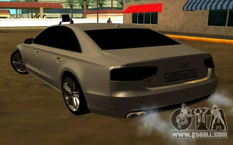 Audi S8 for GTA San Andreas back left view