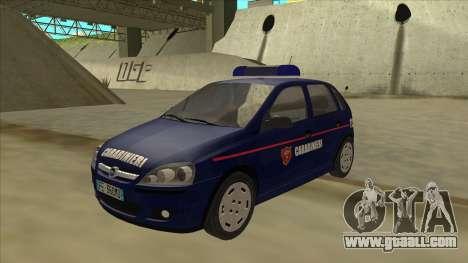 Opel Corsa 2005 Carabinieri for GTA San Andreas