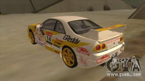 Nissan Skyline R33 Itasha for GTA San Andreas right view