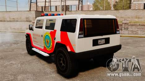 New coloring Noose Patriot for GTA 4 back left view