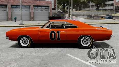 Dodge Charger 1969 General Lee v2 for GTA 4 left view
