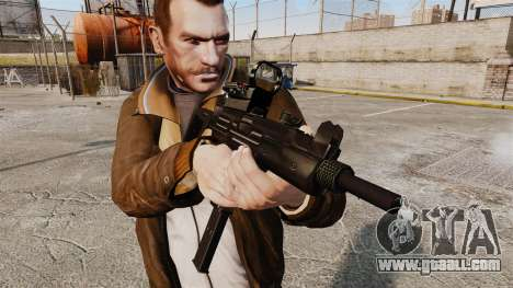 Tactical Uzi v4 for GTA 4 third screenshot