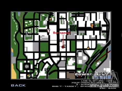 Workout Vusi for GTA San Andreas fifth screenshot