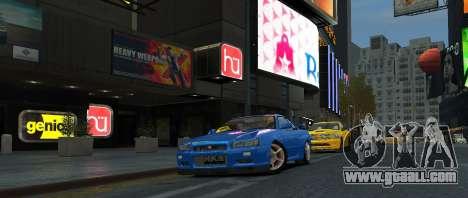 Nissan Skyline GTR-34 for GTA 4