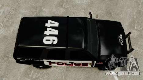 Patrol Cavalcade for GTA 4 right view