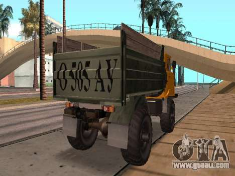 GAS-66 Truck for GTA San Andreas back view