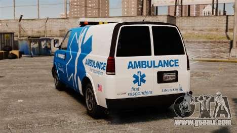 Speedo LCEMS ambulance for GTA 4 back left view