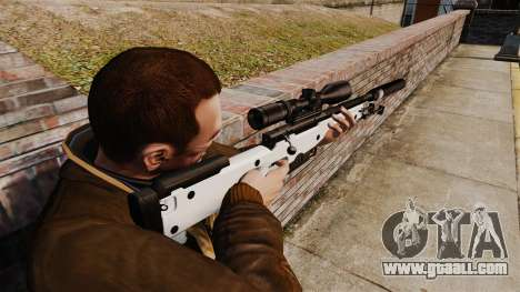 AW L115A1 sniper rifle with a silencer v1 for GTA 4 second screenshot