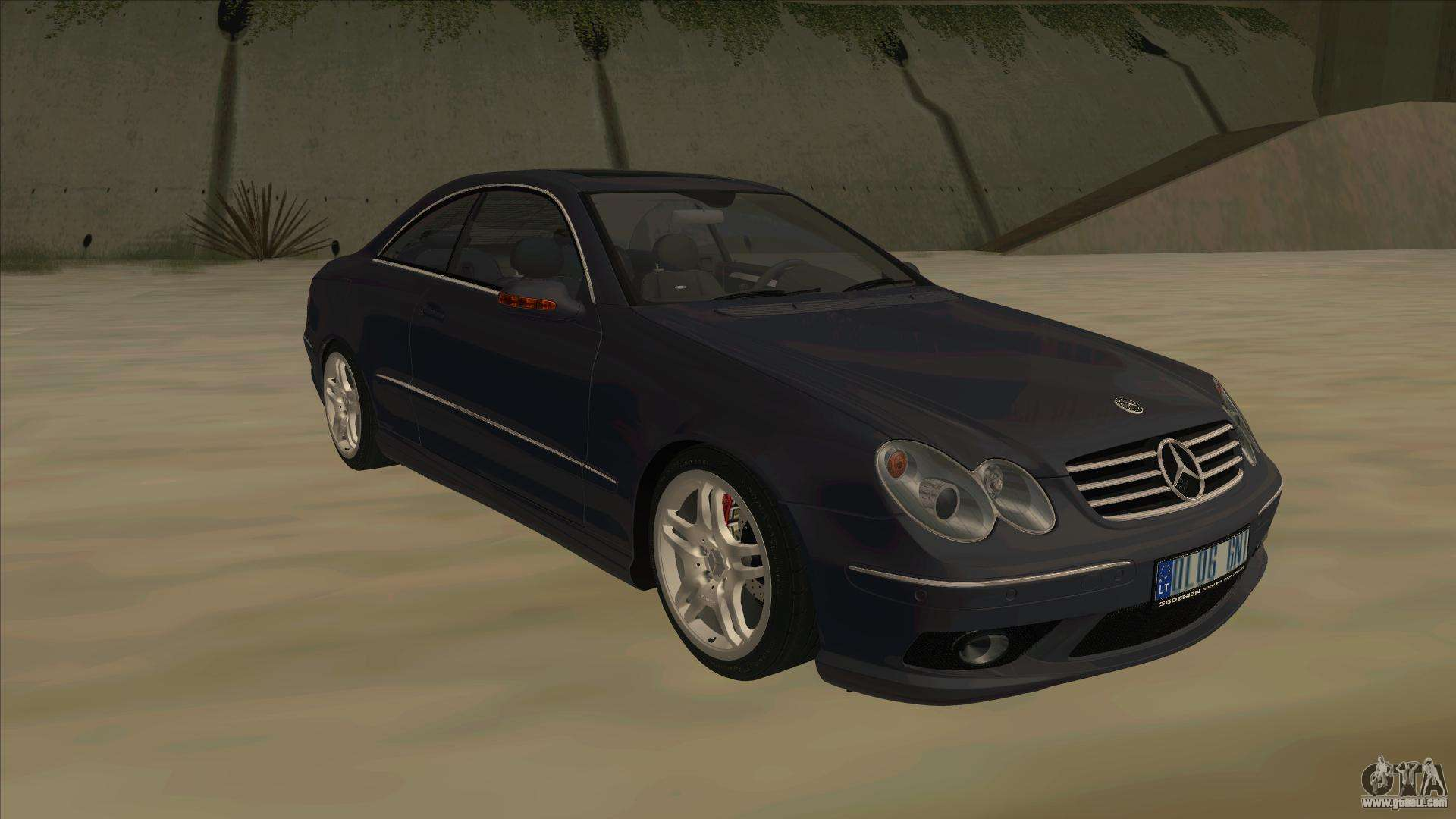 Mercedes benz clk55 amg 2003 for gta san andreas for Mercedes benz clk55 amg