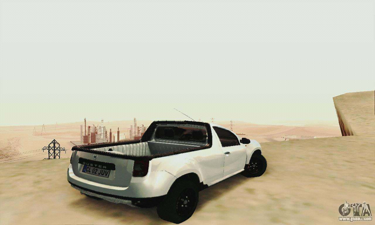 dacia duster pick up for gta san andreas. Black Bedroom Furniture Sets. Home Design Ideas