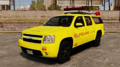 Chevrolet Suburban Los Santos Lifeguard [ELS] for GTA 4
