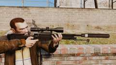 AW L115A1 sniper rifle with a silencer v4