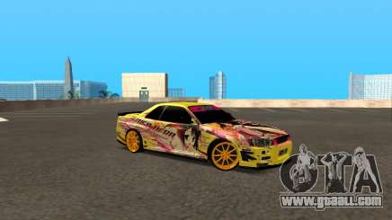 Nissan Skyline R34 Azusa Mera for GTA San Andreas