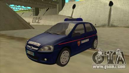 Opel Corsa 2005 Carabinieri for GTA San Andreas