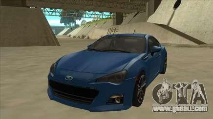 Subaru BRZ 2013 Tunable for GTA San Andreas