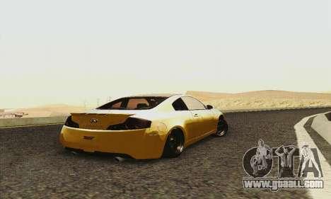 Infiniti G35 Hellaflush for GTA San Andreas back view