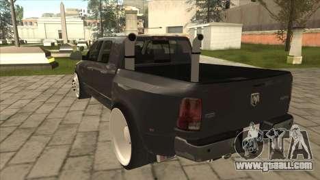 Dodge Ram Laramie Low for GTA San Andreas back view