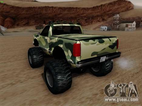 Camouflage for Monster for GTA San Andreas bottom view