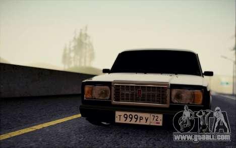 VAZ 2107 for GTA San Andreas back left view