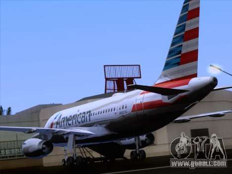 Airbus A319-112 American Airlines for GTA San Andreas bottom view
