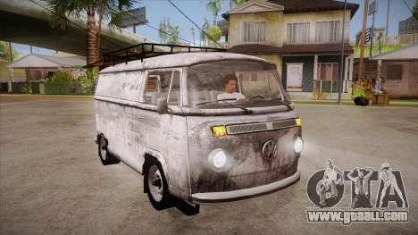 Volkswagen Transporter T2 Custom for GTA San Andreas back view