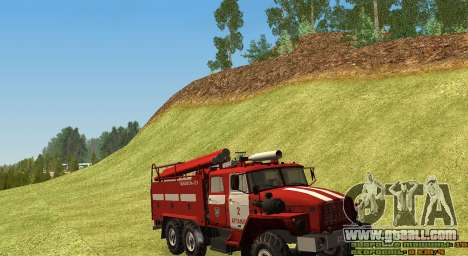 Ural 4320 Firefighter for GTA San Andreas