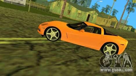 Chevrolet Corvette C6 for GTA Vice City side view