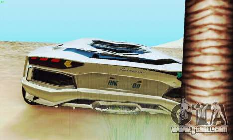 Lamborghini Aventador LP700 for GTA San Andreas wheels