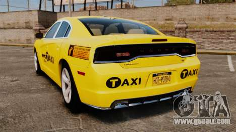 Dodge Charger 2011 Taxi for GTA 4 back left view