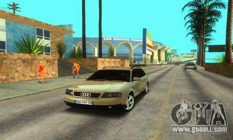 Audi A6 (C5) Avant for GTA San Andreas back left view