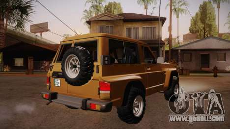 Nissan Patrol Y60 for GTA San Andreas right view