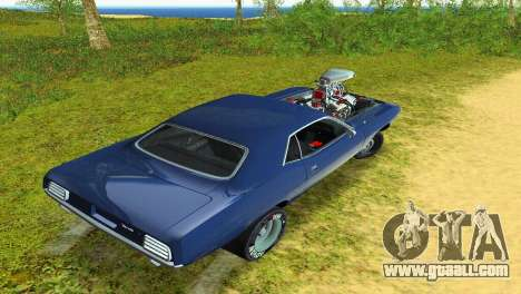Plymouth Barracuda Supercharger for GTA Vice City side view