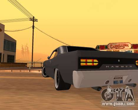 Plymouth Road Runner 1970 for GTA San Andreas right view