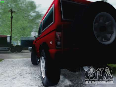 Ford Bronco 1966 for GTA San Andreas back left view
