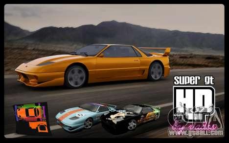 Super GT HD for GTA San Andreas