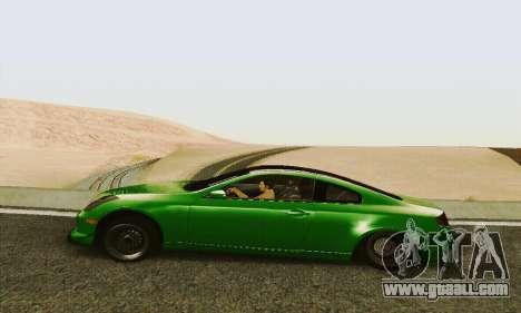 Infiniti G35 Hellaflush for GTA San Andreas left view