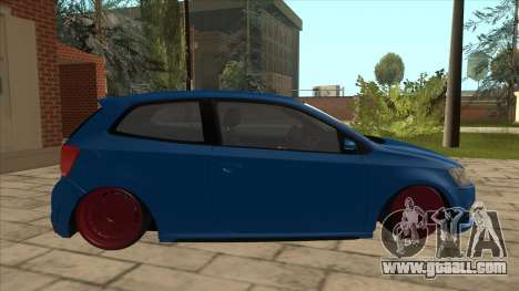 Volkswagen Polo GTi Euro Stance 2012 for GTA San Andreas back left view