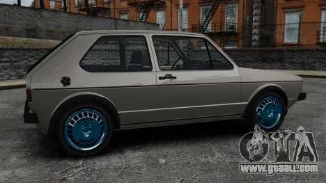 Volkswagen Golf MK1 GTI Update v2 for GTA 4 left view