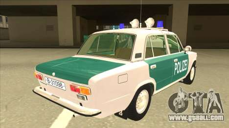 VAZ 21011 DDR police for GTA San Andreas right view