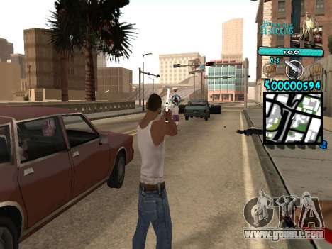 C-HUD by Kerro Diaz [ Aztecas ] for GTA San Andreas
