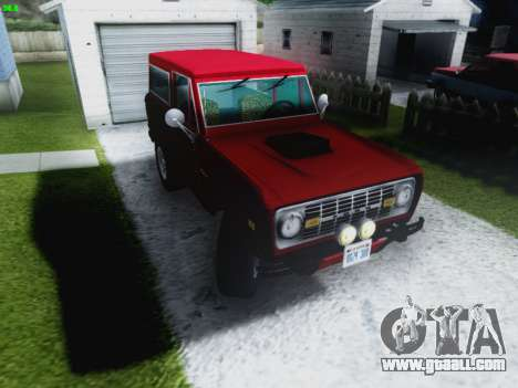 Ford Bronco 1966 for GTA San Andreas back view