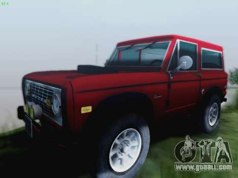 Ford Bronco 1966 for GTA San Andreas left view