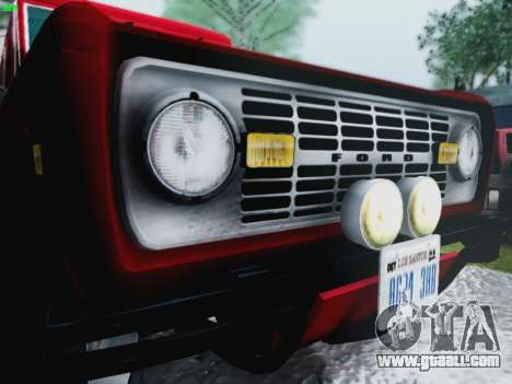 Ford Bronco 1966 for GTA San Andreas inner view