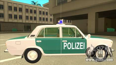 VAZ 21011 DDR police for GTA San Andreas back left view