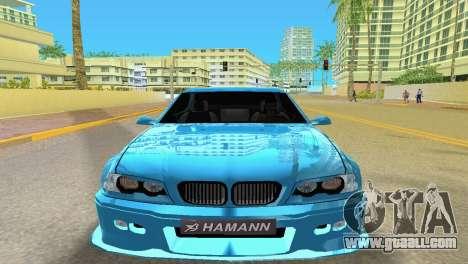 BMW M3 E46 Hamann for GTA Vice City back left view