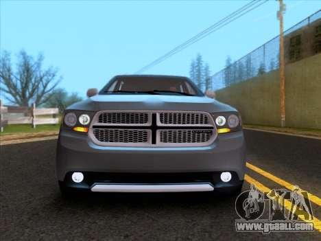 Dodge Durango Citadel 2013 for GTA San Andreas back view