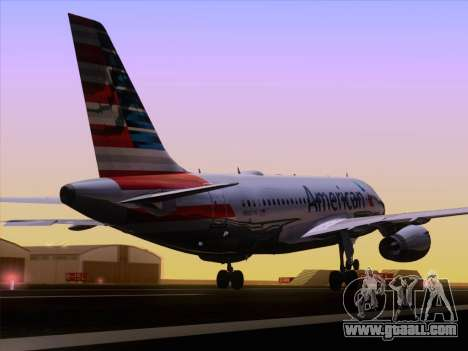Airbus A319-112 American Airlines for GTA San Andreas side view